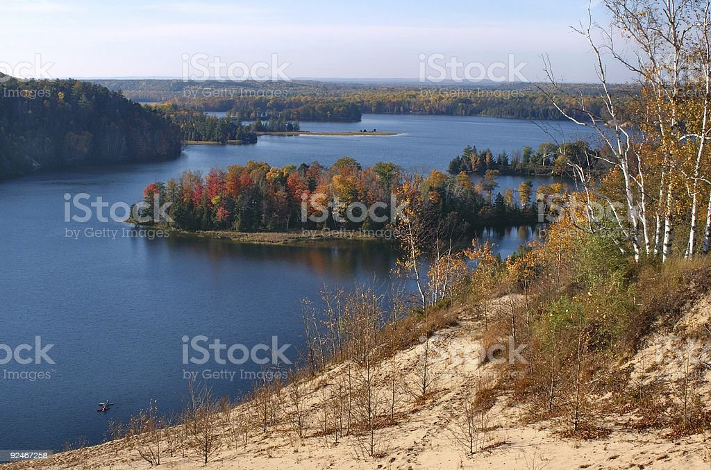 Au Sable River royalty-free stock photo