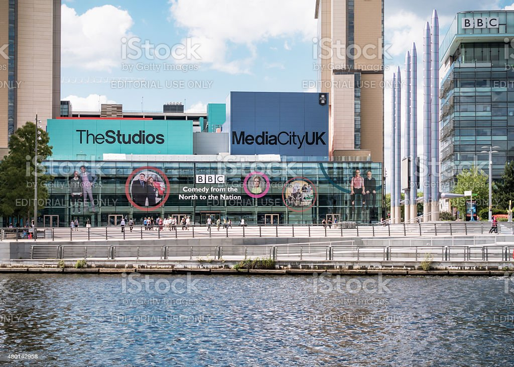 BBC at Salford Quays stock photo