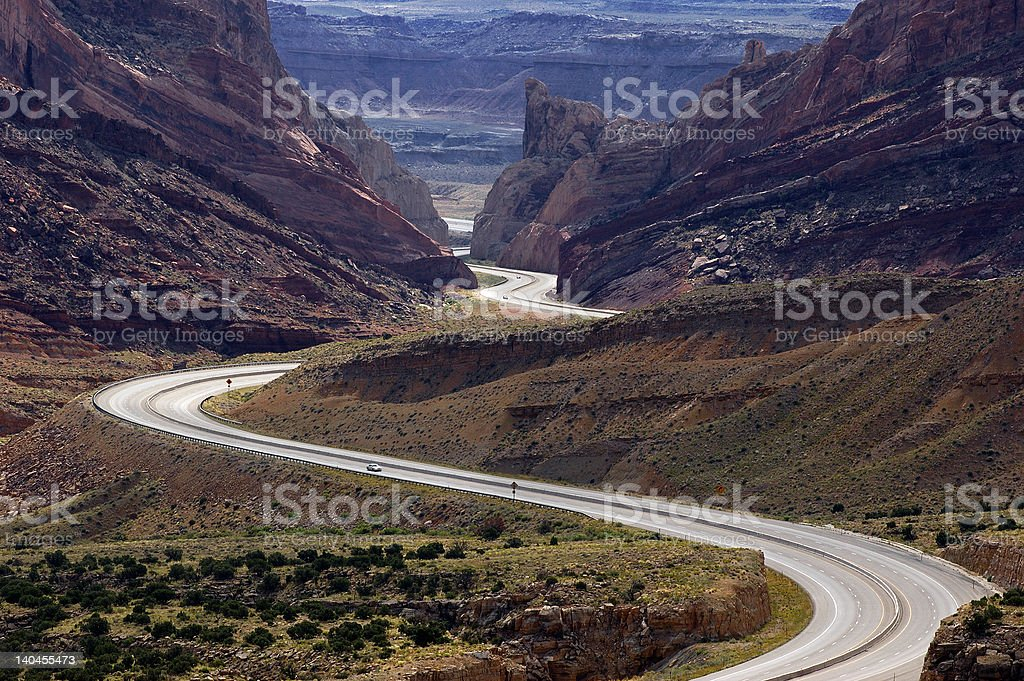 I-70 at San Rafael Ridge Utah stock photo