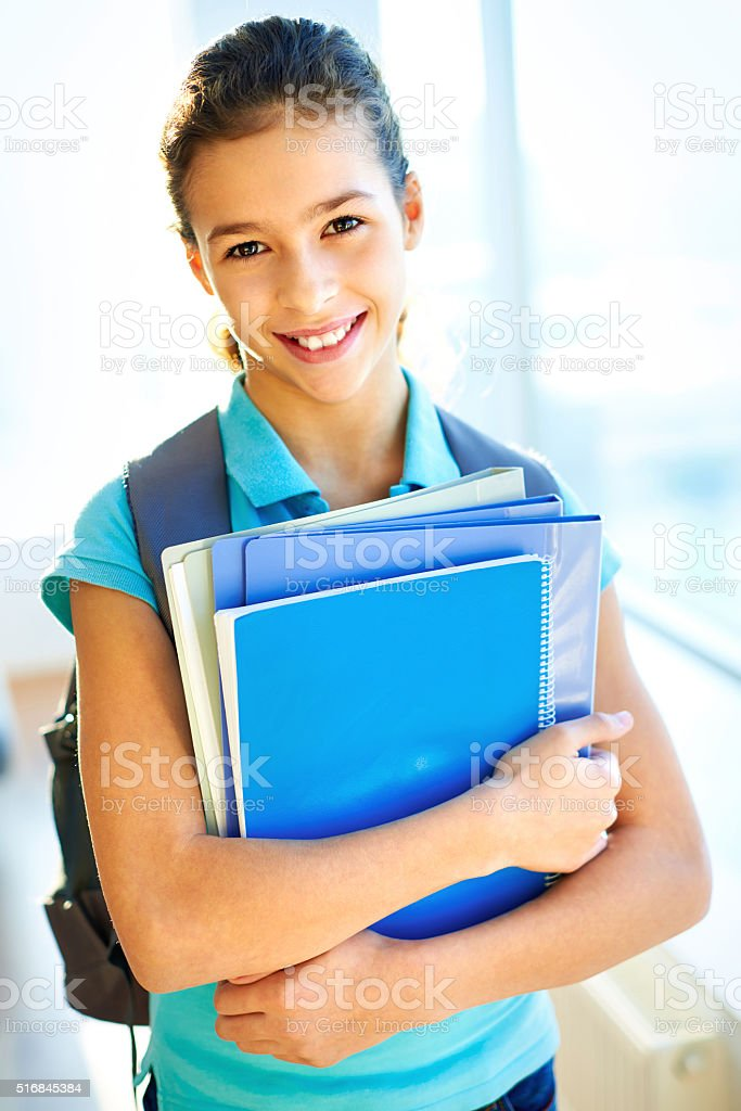 At school stock photo