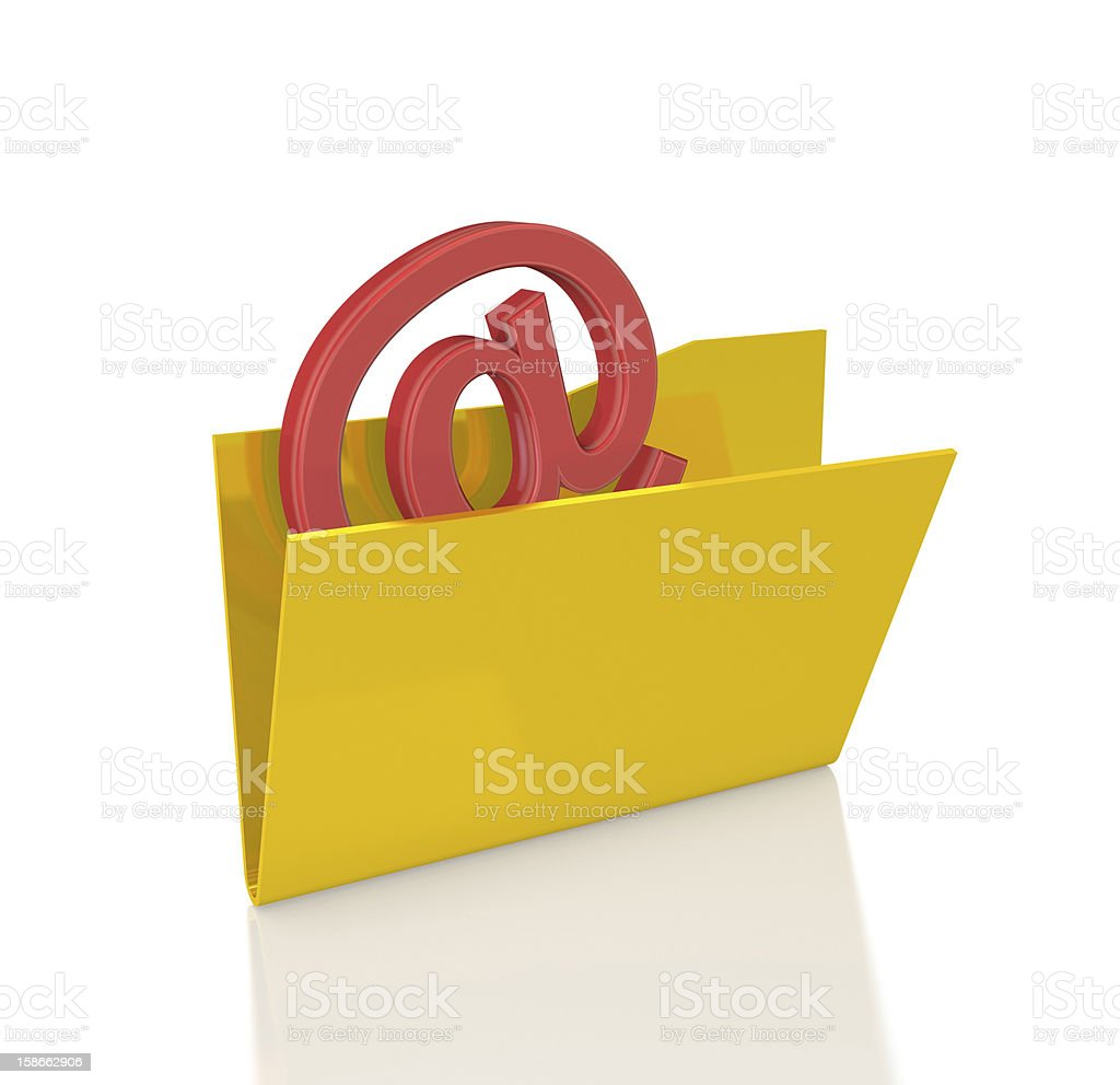 At sign in Folder royalty-free stock photo
