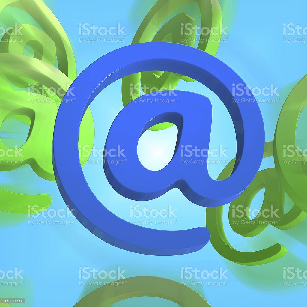 At Sign Shows E-mail Symbol Send Mail royalty-free stock photo