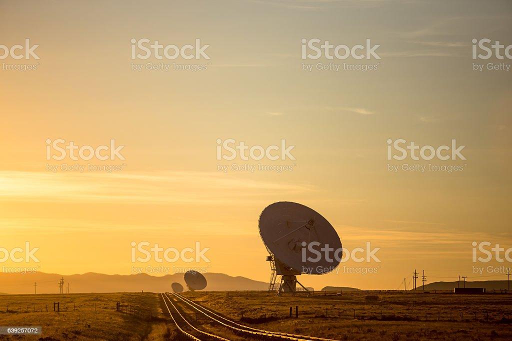 VLA at Sunset stock photo