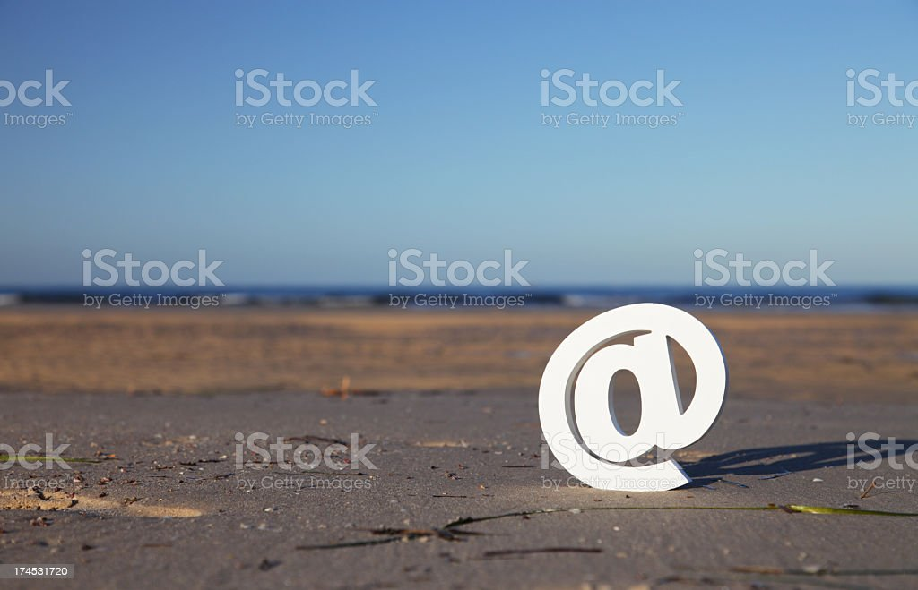 At symbol stock photo