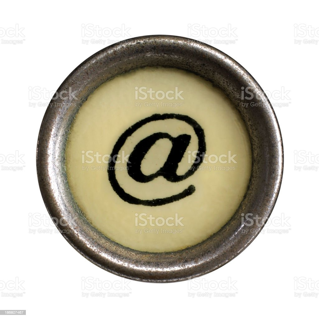 """at"" symbol stock photo"