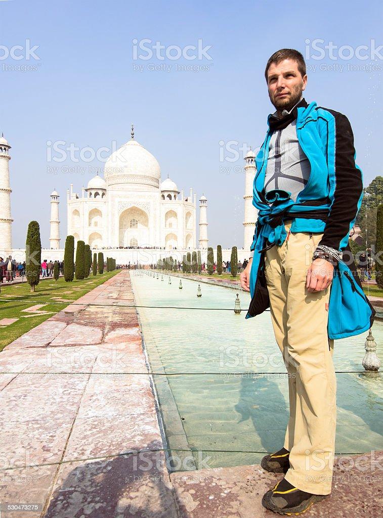At Taj Mahal stock photo