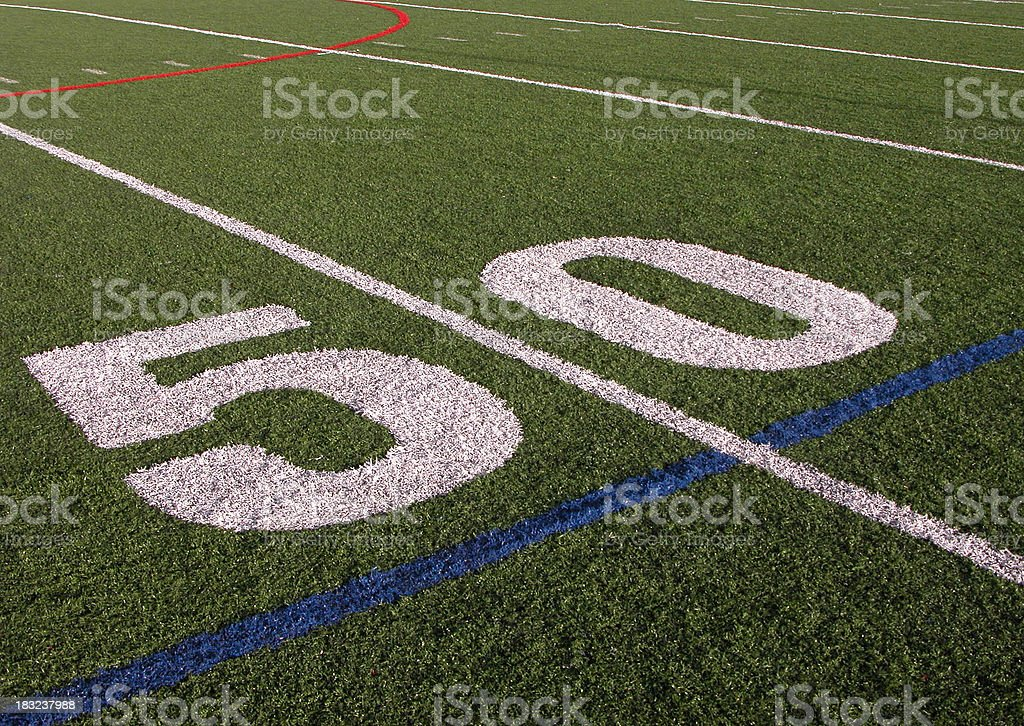 At the 50 yard line royalty-free stock photo