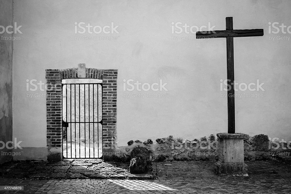 At the Abbey - Hautvillers stock photo