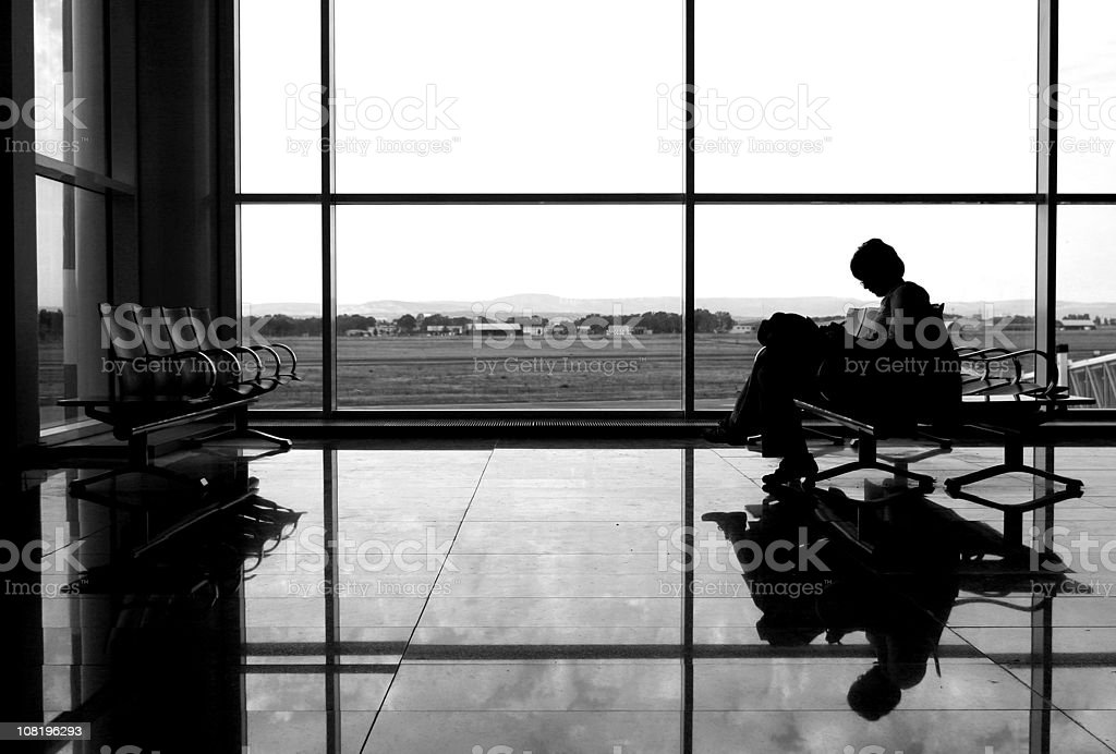 At the airport royalty-free stock photo