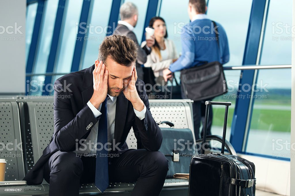 At the airport stock photo