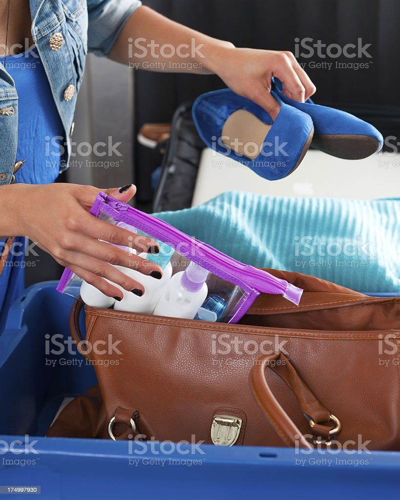 At the airport security checkpoint royalty-free stock photo
