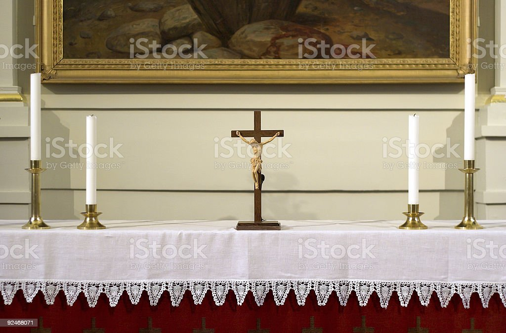At the altar royalty-free stock photo
