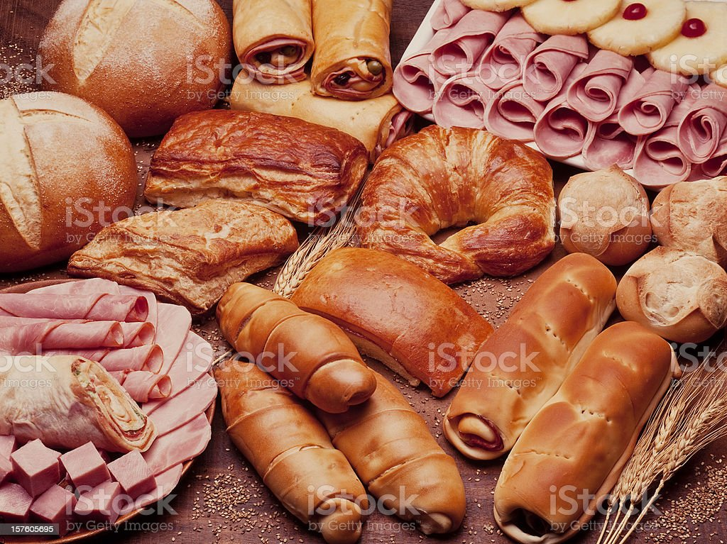 At The Bakery Table stock photo