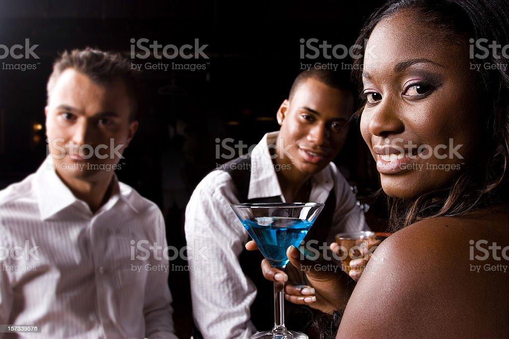 At the bar royalty-free stock photo