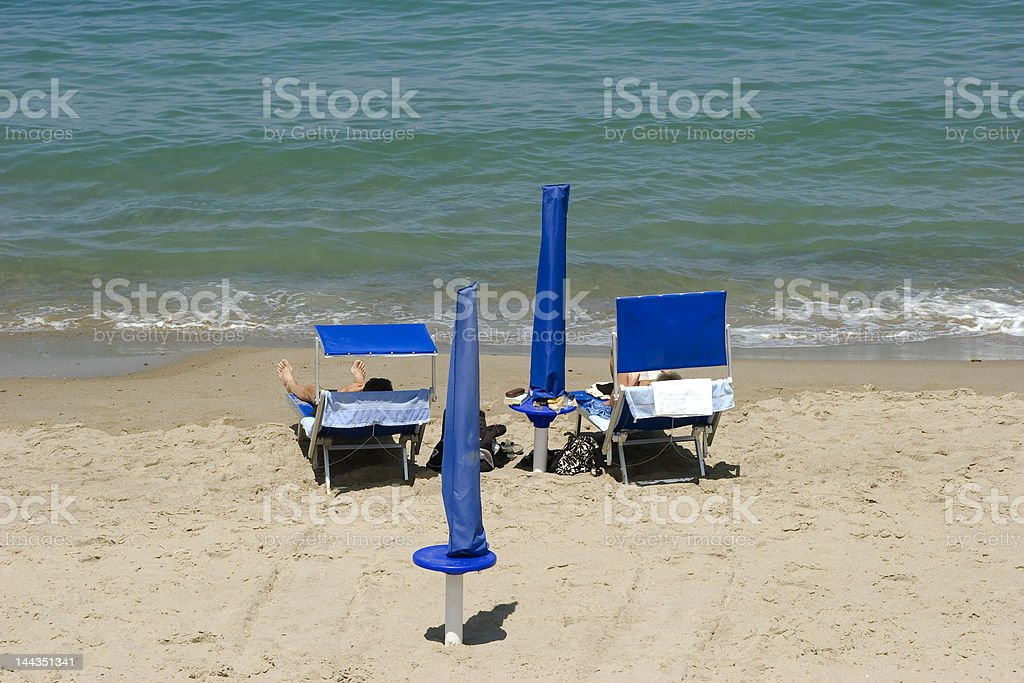 At the beach in Cefalu. royalty-free stock photo