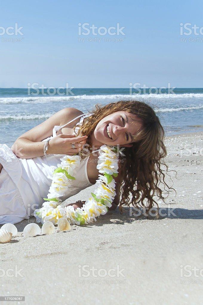 En la playa foto de stock libre de derechos