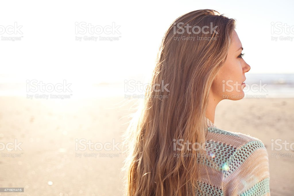 at the beach royalty-free stock photo