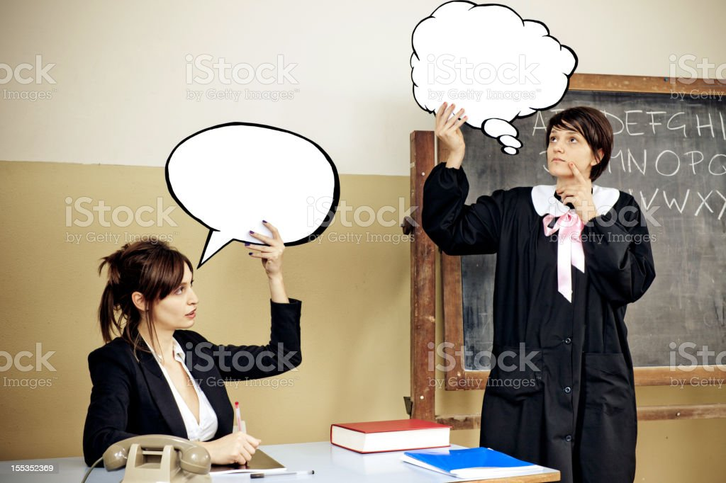 At the blackboard royalty-free stock photo