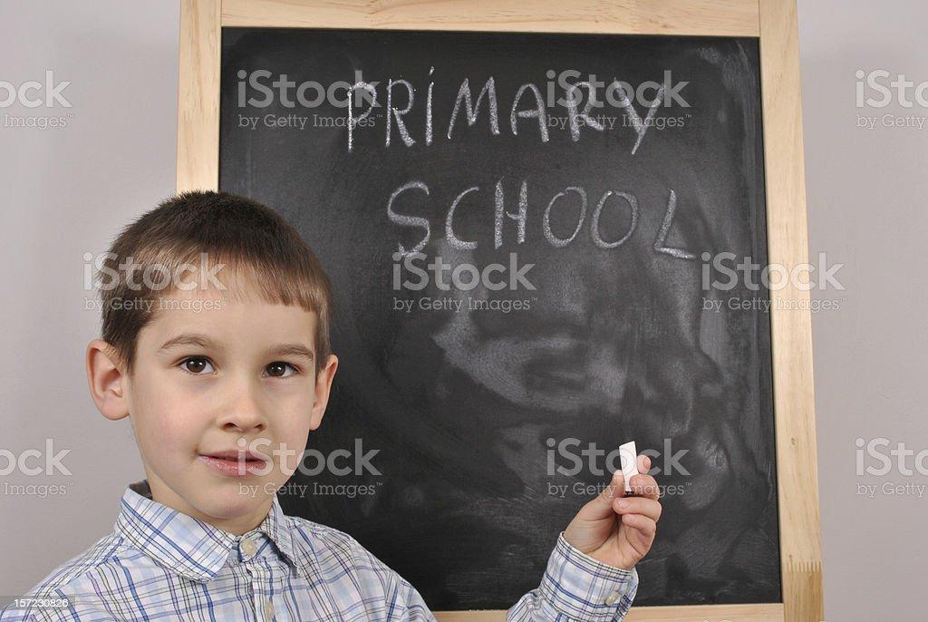 At the blackboard royalty-free stock photo