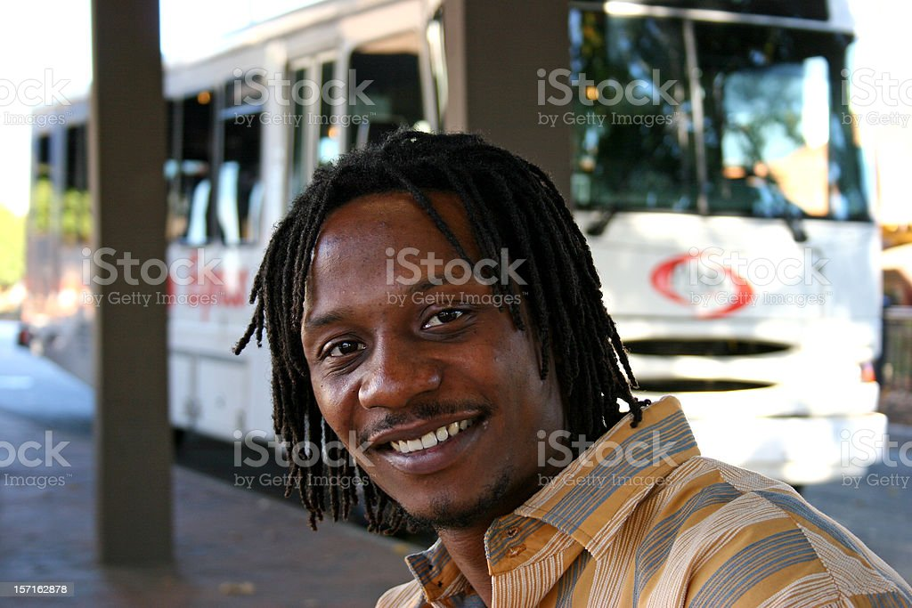 At the Bus Stop 1 royalty-free stock photo