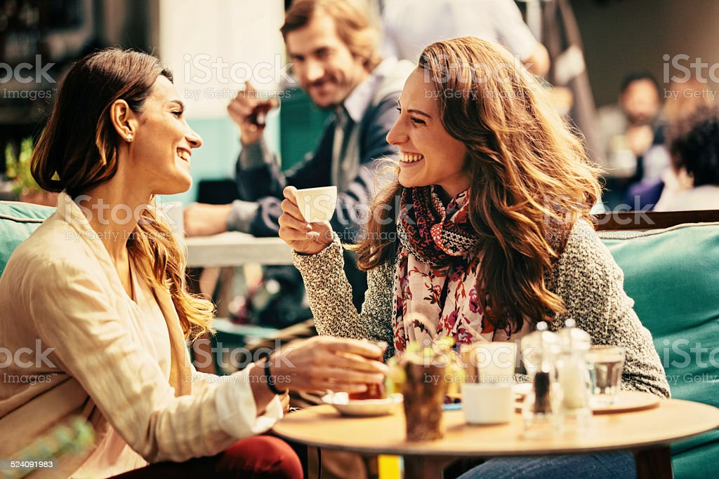 At the cafe stock photo