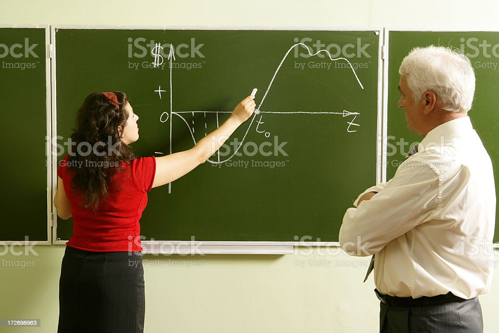 At the chalkboard royalty-free stock photo