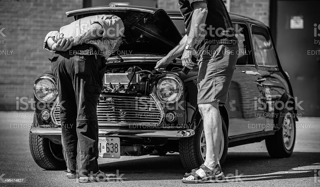 At the Classic Mini show and shine royalty-free stock photo