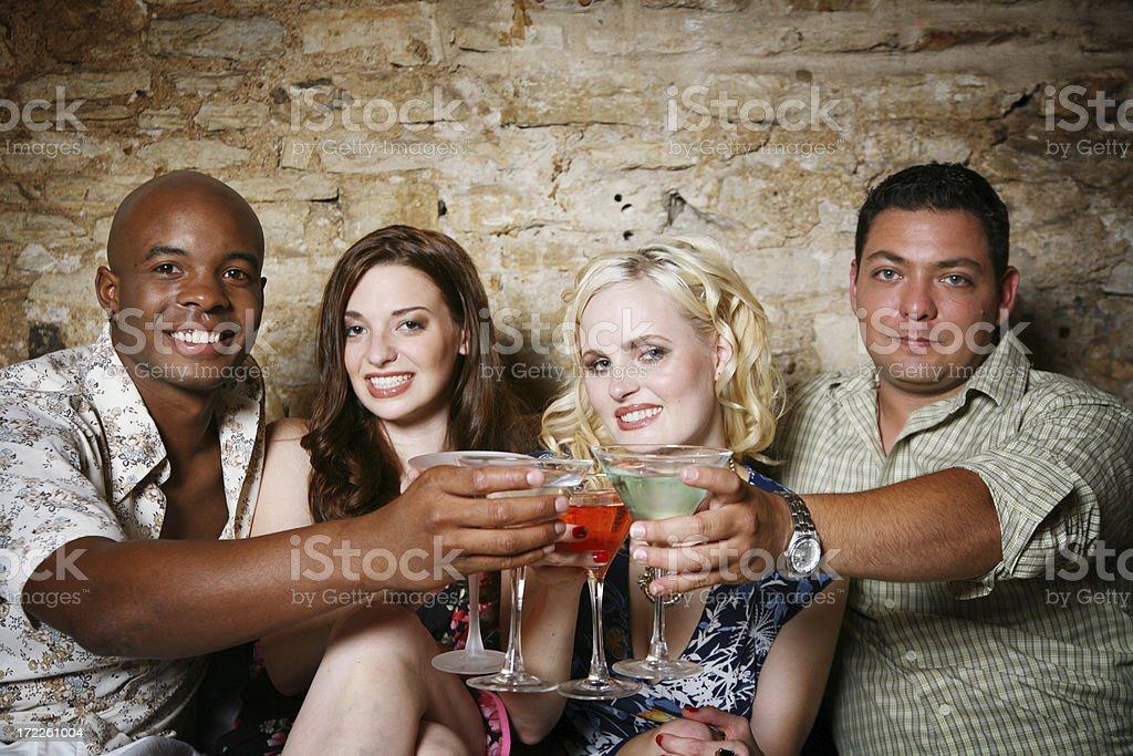 At the club royalty-free stock photo