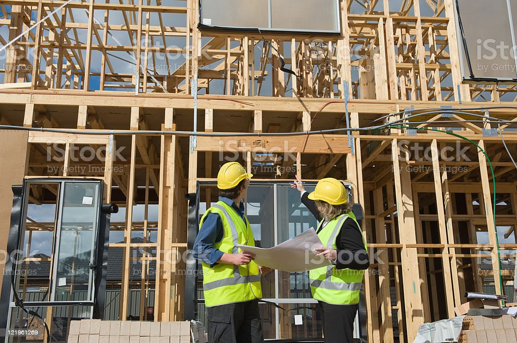 at the construction site stock photo