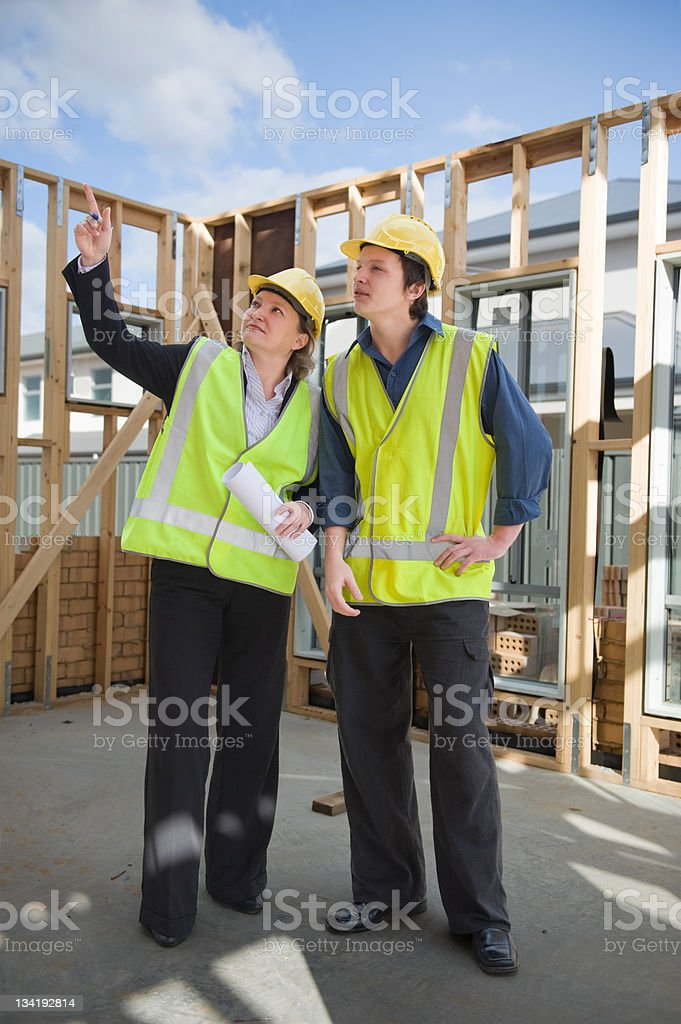 at the construction site royalty-free stock photo