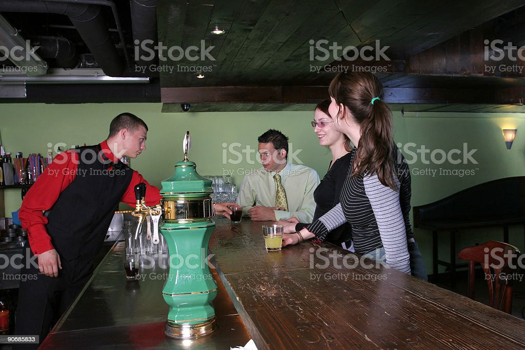At the counter in a bar royalty-free stock photo