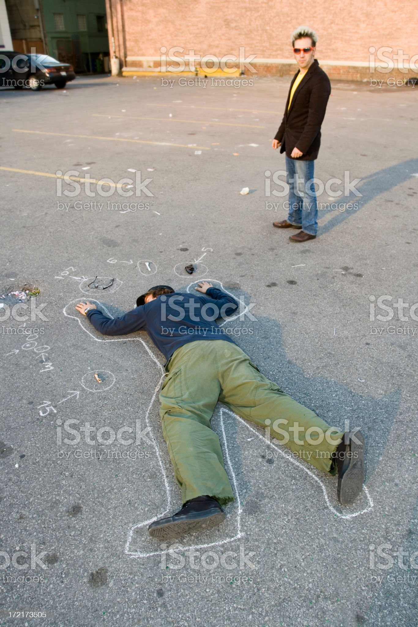 at the crime scene royalty-free stock photo