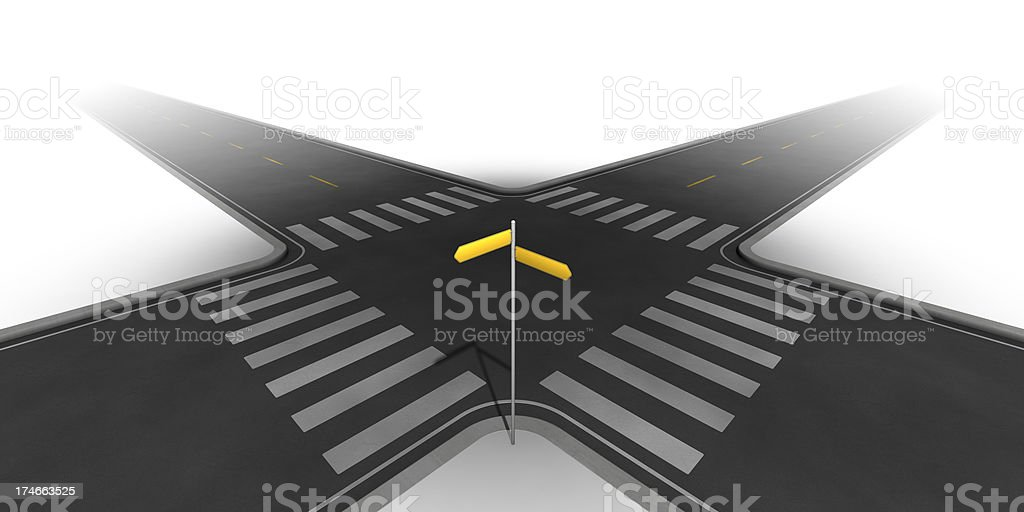 At the cross roads royalty-free stock photo