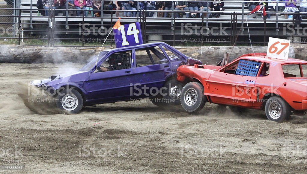 At The Demolition Derby stock photo