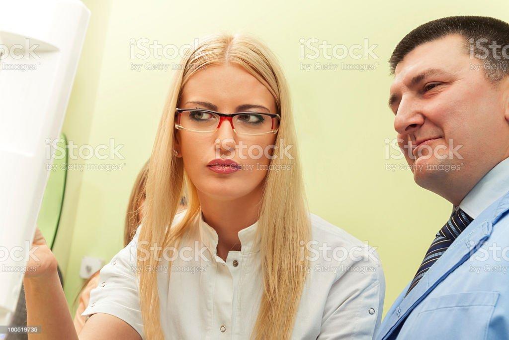 At  the dentist royalty-free stock photo