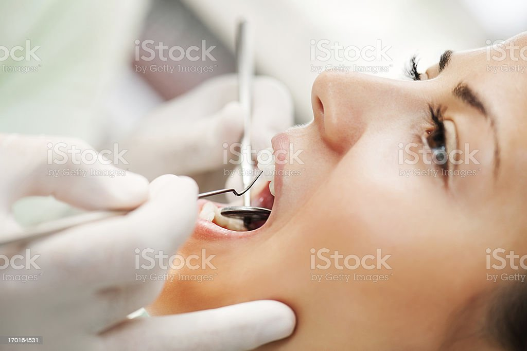 At the dentist. royalty-free stock photo