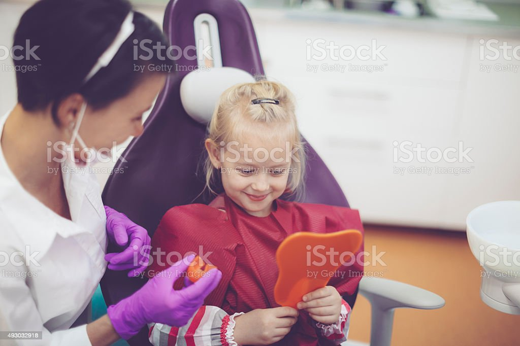 At the dentist's office stock photo