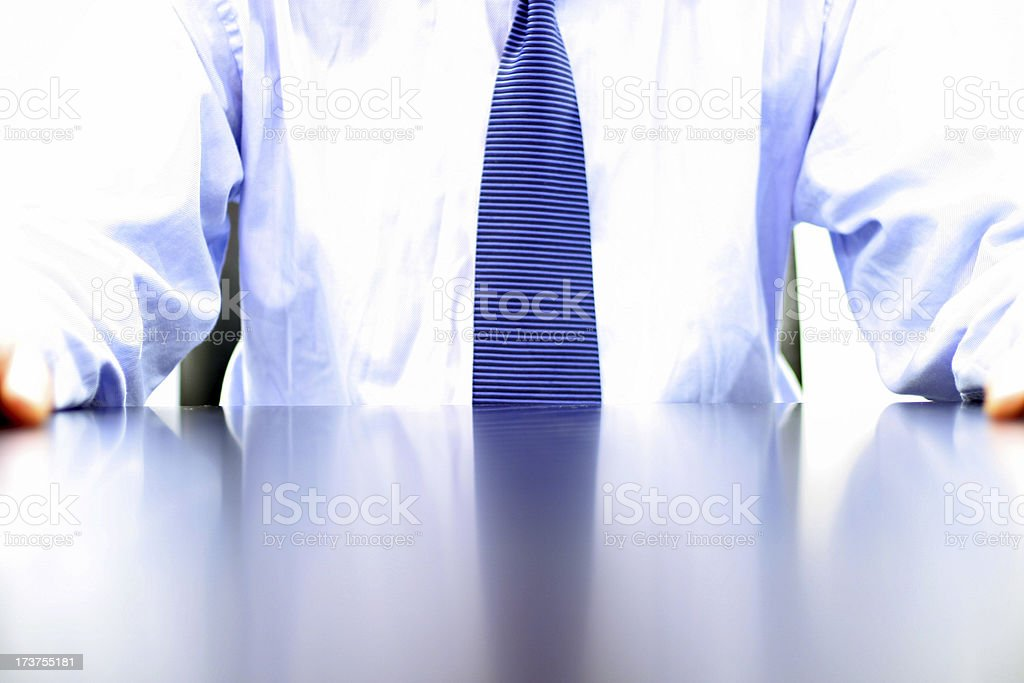 At the desk royalty-free stock photo