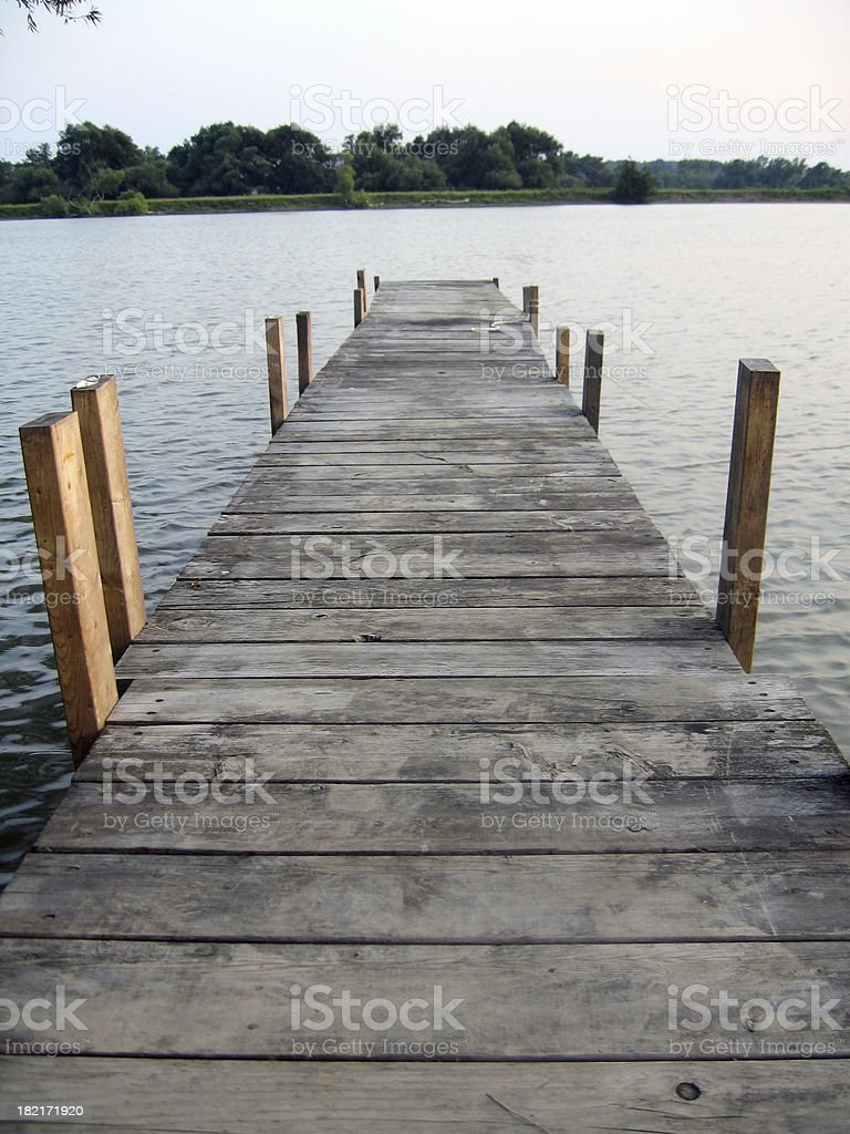 at the dock royalty-free stock photo