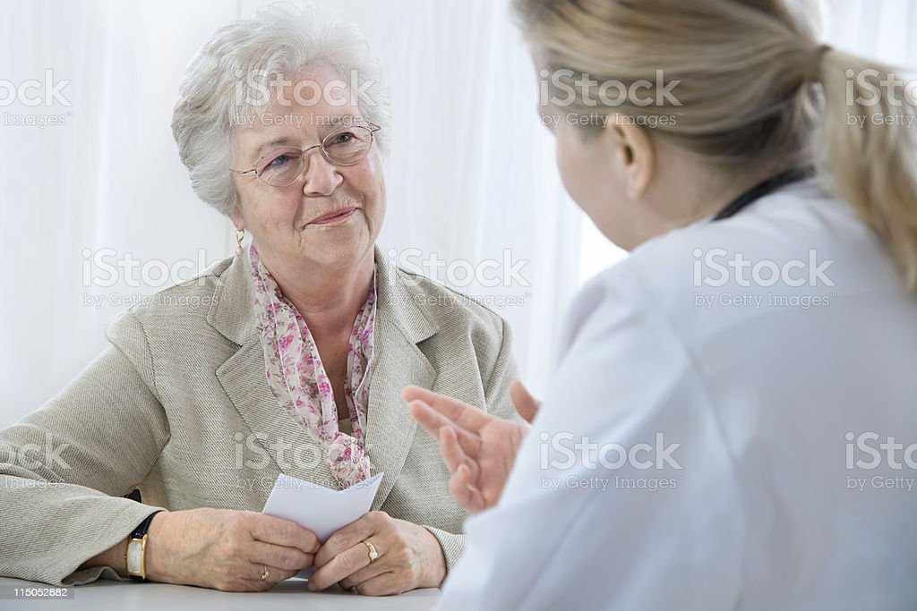 At the doctor's office royalty-free stock photo