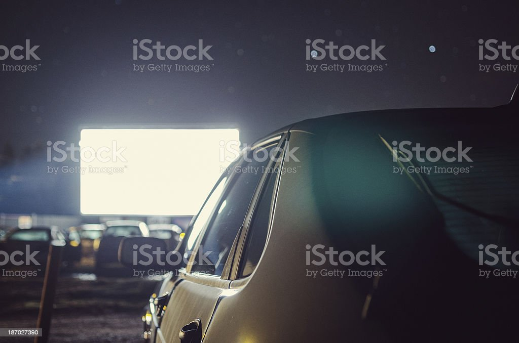 At the Drive-in Movie stock photo