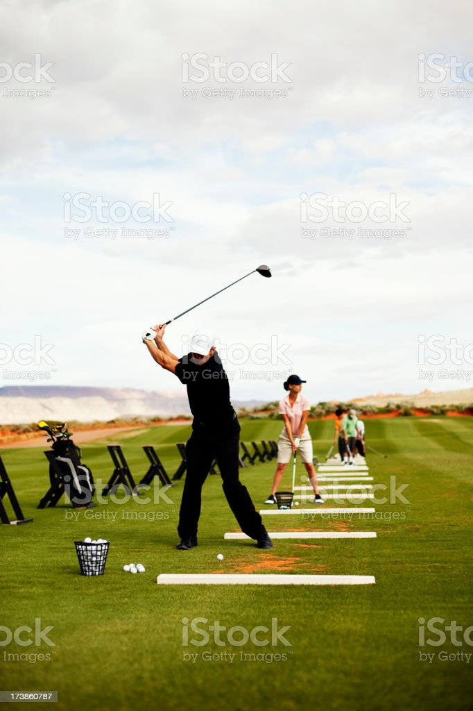At the Driving Range stock photo