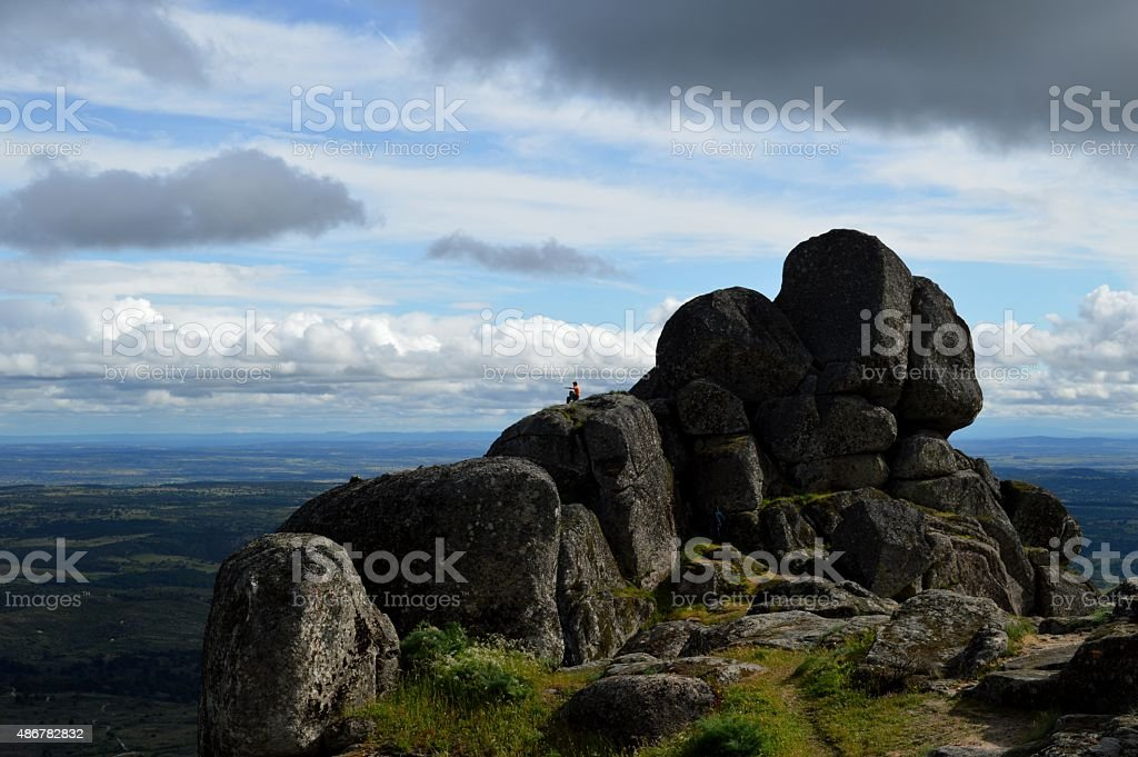 At the edge of the world. stock photo