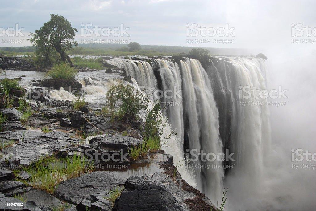 At the edge of Victoria Falls stock photo