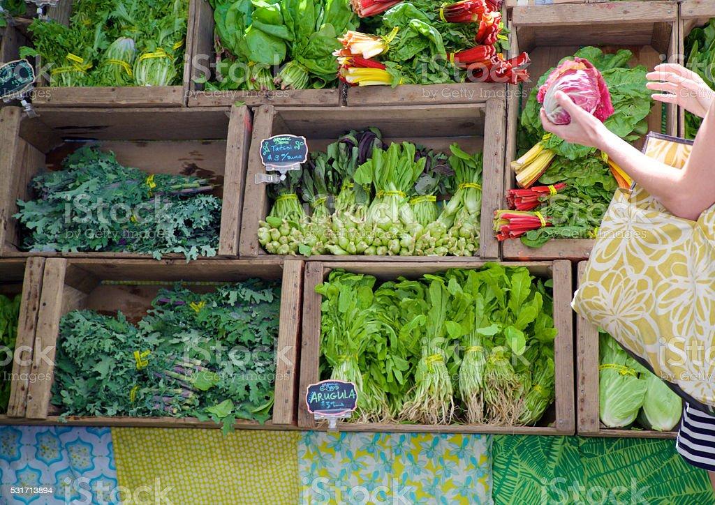 at the farmer's market stock photo