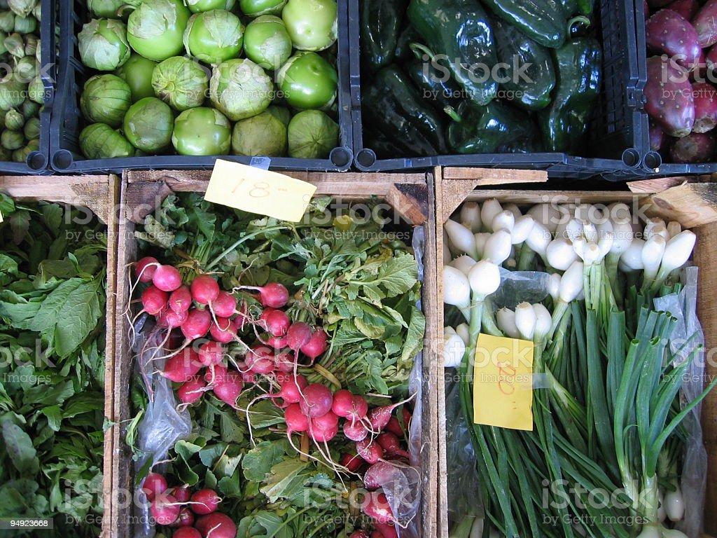 at the farmers' market royalty-free stock photo