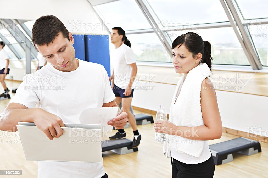 At the fitness club royalty-free stock photo