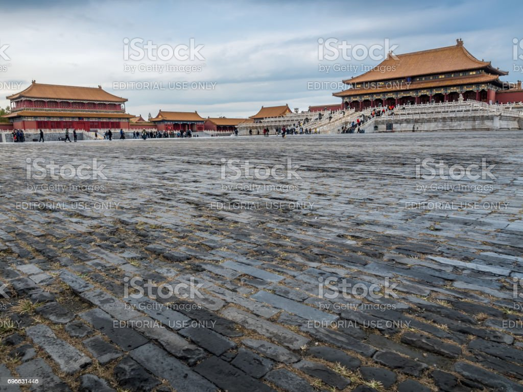 At the Forbidden City (Gu Gong, Palace Museum), Beijing stock photo