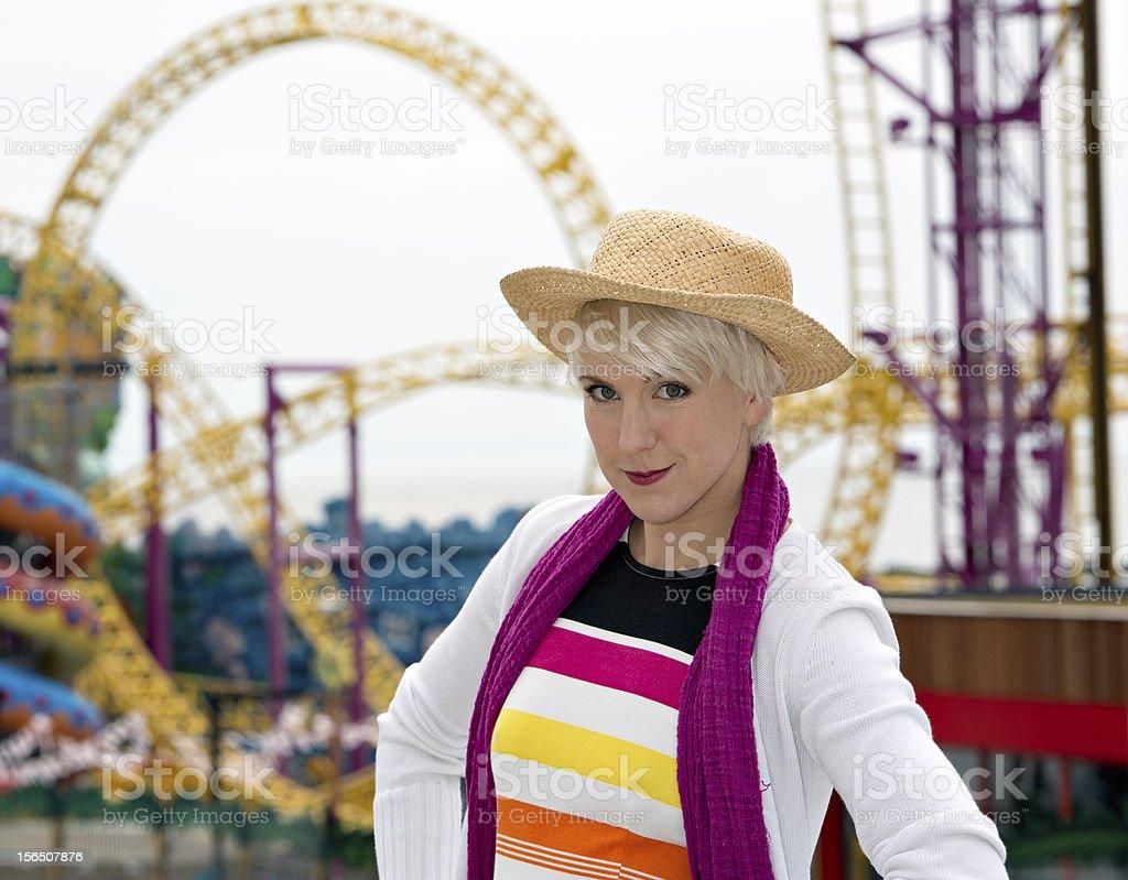 At the fun fair royalty-free stock photo