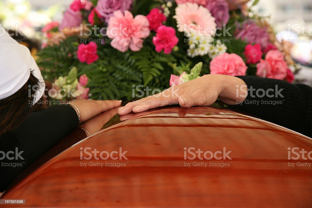 At the Funeral (burial) stock photo